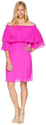 Lauren Ralph Lauren 2E Poly Georgette Romina 3/4 Sleeve Day Dress Women's Dress