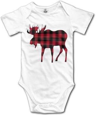 Buffalo David Bitton A-Lin Cotton 100% Baby Onesie Unisex Bodysuits Baby Plaid Moose