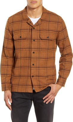 BHLDN Guetes Regular Fit Plaid Button-Up Flannel Overshirt