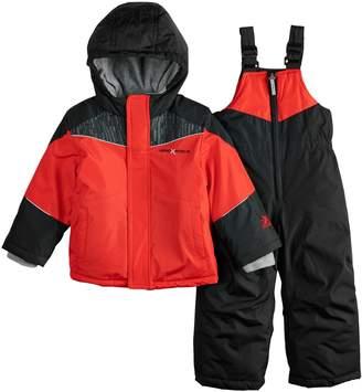 ZeroXposur Toddler Boy Carter Heavyweight Hooded Jacket & Bib Snow Pants Set