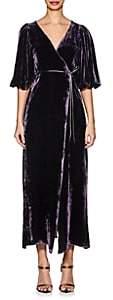 Juan Carlos Obando Women's Velvet Wrap Gown - Purple