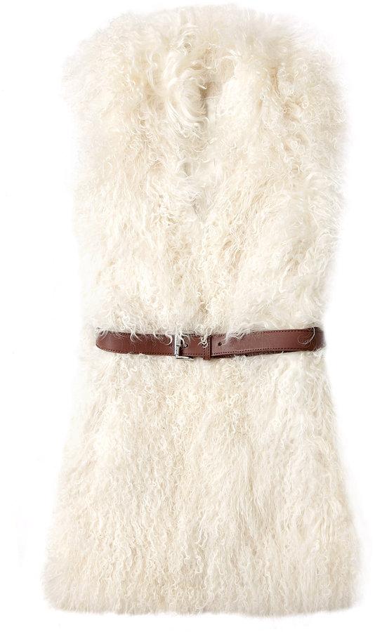 Michael Michael Kors Long Shearling Vest