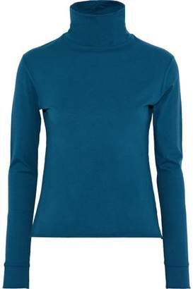 Simon Miller Ramo Cotton-Blend Jersey Turtleneck Top