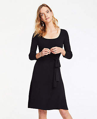 Ann Taylor Belted Sweater Dress