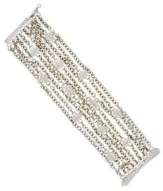 Paul Morelli 18K Diamond Leaf Multistrand Bracelet