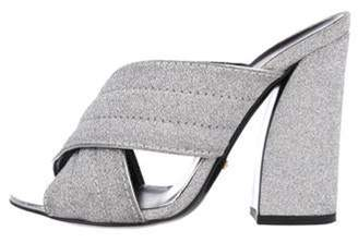 Gucci Webby Glitter Sandals Silver Webby Glitter Sandals