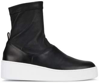 Clergerie Black Teniera 50 Leather Hi Top Sneakers