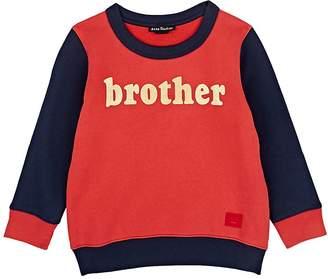 "Acne Studios Kids' Mini Fairview ""Brother"" Cotton Sweatshirt"