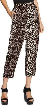 Vince Camuto Leopard Print Crop Pants