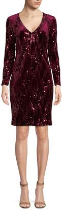 Alexia Admor Women's Sequin Long Sleeve Sheath Dress