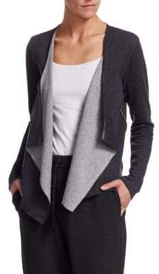Majestic Filatures Two-Tone Cascading Cashmere Cardigan