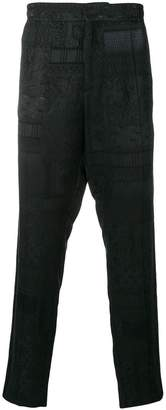 Etro jacquard tapered trousers