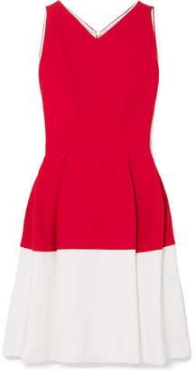 Roland Mouret Ellesfield Two-tone Crepe Dress - Red