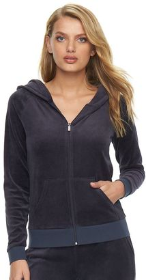 Women's Juicy Couture Velour Hoodie Jacket $54 thestylecure.com