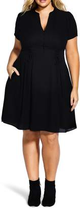 City Chic Laced Waist Dress
