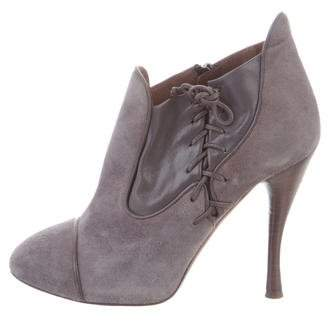 Tabitha Simmons Suede Round-Toe Boots