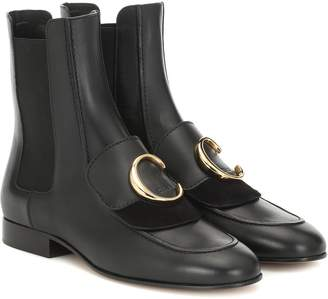 Chloé C leather ankle boots