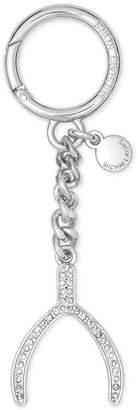 Michael Kors Womens Wishbone Rhinestone Charm Fashion Keychain O/S