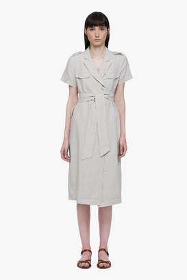 Genuine People Linen Double Breasted Midi Dress