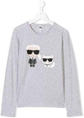 Karl Lagerfeld TEEN with cat printed top