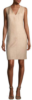 Elie Tahari Roanna V-Neck Dress