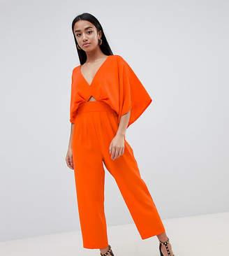 Asos DESIGN Petite jumpsuit with kimono sleeve and peg leg