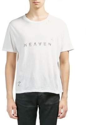 Saint Laurent Heaven Distressed Cotton Tee
