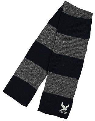 Soul Cal SoulCal Mens Stripe Scarf Winter Warm Striped Knitted
