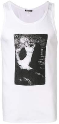 Ann Demeulemeester graphic print tank top