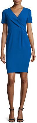 Elie Tahari Deandra Short-Sleeve Crepe Sheath Dress $398 thestylecure.com