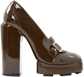 Carven Brown Patent leather Heels