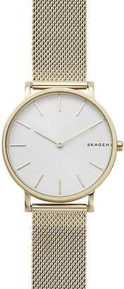 Skagen Gold-Tone Mesh Bracelet Hagen Watch, 38mm