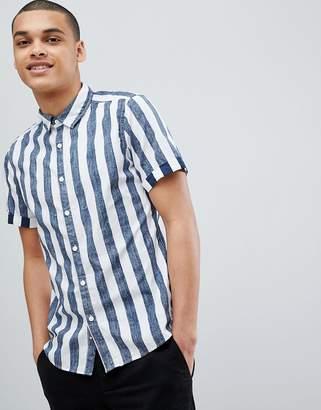 Esprit Slim Fit Short Sleeve Stripe Shirt
