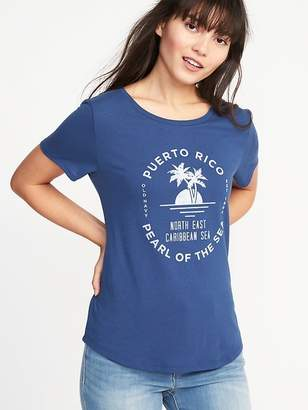 """Old Navy """"Puerto Rico Pearl of the Sea"""" Tee for Women"""