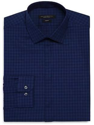John Varvatos Bold Check Slim Fit Dress Shirt