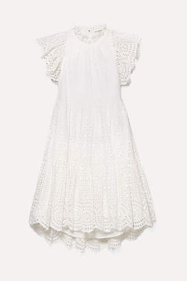 Ulla Johnson Norah Broderie Anglaise Cotton Dress - White