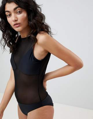 Jaded London Mesh Swimsuit
