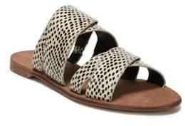 Diane von Furstenberg Blake Multiband Snakeskin Sandals