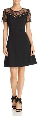 Nanette Lepore nanette Short-Sleeve Embroidered Lace Dress