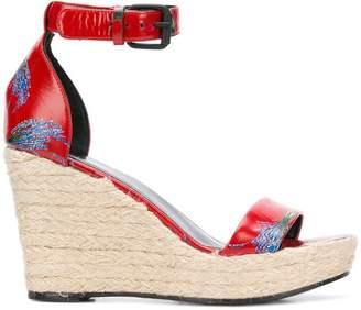 Sonia Rykiel floral print espadrille wedge sandals