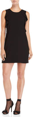 Sonia Rykiel Sonia By Black Side Ruffle Shift Dress