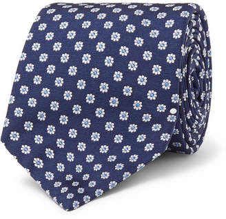 Turnbull & Asser 8cm Floral Silk-Jacquard Tie