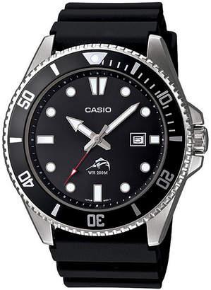 Casio Mens Black Resin Strap Watch MDV106-1A