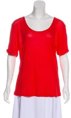 Gerard Darel Linen Short Sleeve Top