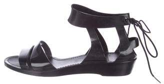 See by Chloe Rubber Wrap-Tie Sandals