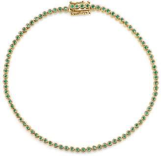 Sydney Evan Yellow Gold Emerald Eternity Bracelet