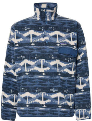Patagonia Snap-T Printed Synchilla Fleece Sweatshirt