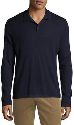 Vince Men's Long-Sleeve Wool/Cashmere Polo Shirt