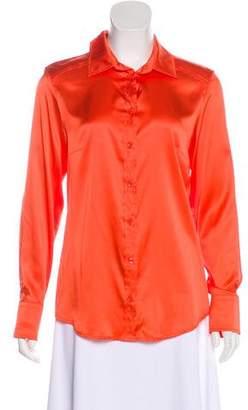 Max Mara Weekend Silk Button-Up Top w/ Tags