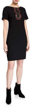 Trina Turk Embellished T-Shirt Crepe Dress